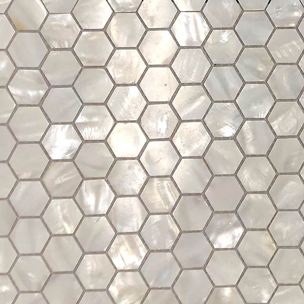 Mother of Pearl Shell Hexagon Mosaic Tiles