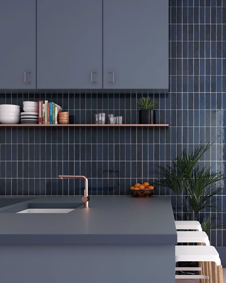 Get the look of handmade tiles in dozens of rich and vibrant colors like this La Riviera Blue Reef Ceramic Subway Tile with a colorful glazed finish