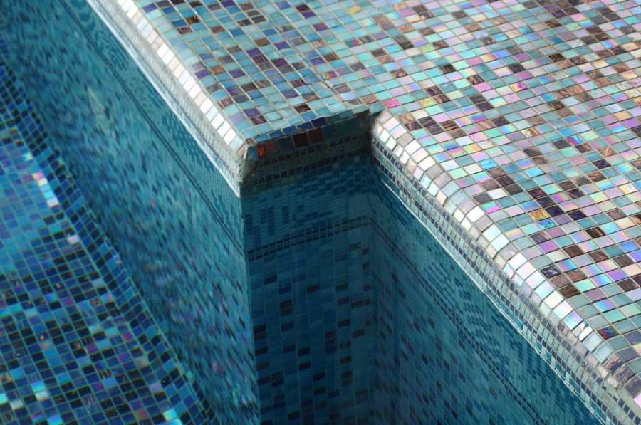 Mosaic Tiled Pool and Waterline