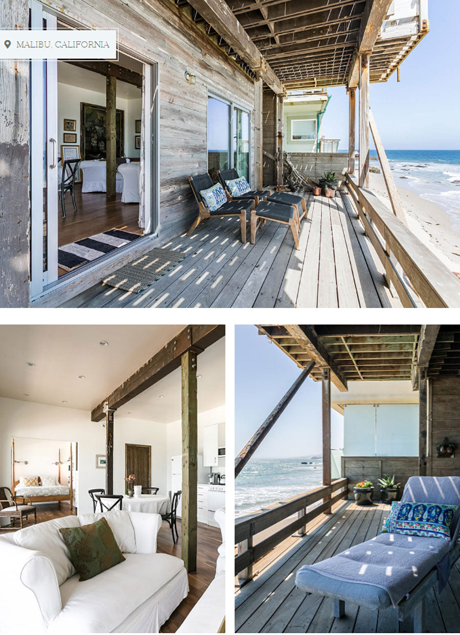 A beach bungalow in Malibu leans into coastal California style to attract renters on home share sites
