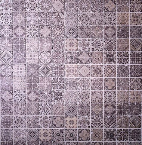 Spanish Mosaic Tile for a Hacienda Living Room Fireplace Surround