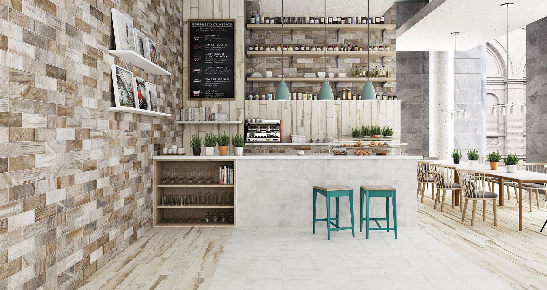 Commercial Tiles for a Rustic and Durable Coffee Shop or Cafe Interior