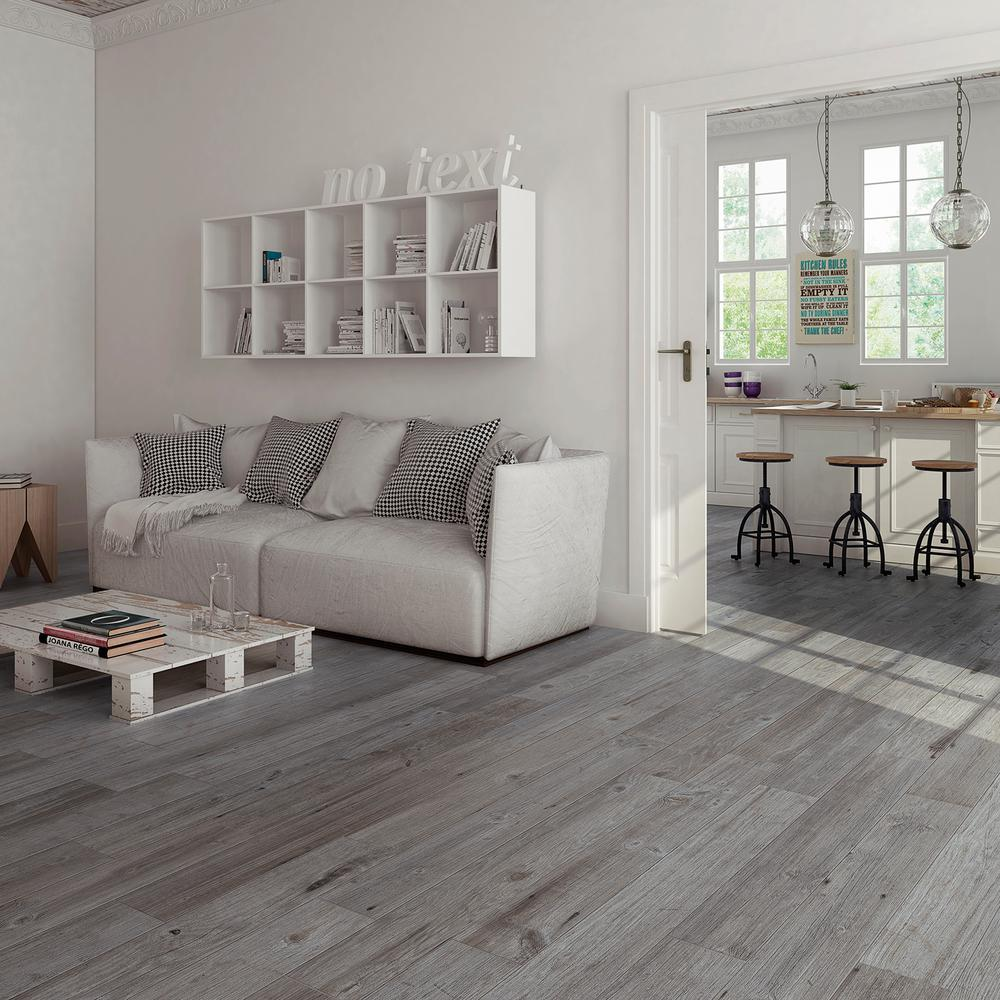 Get the light and contemporary look of ash flooring with Tribeca Miel wood look porcelain tile at $6.90 a square foot