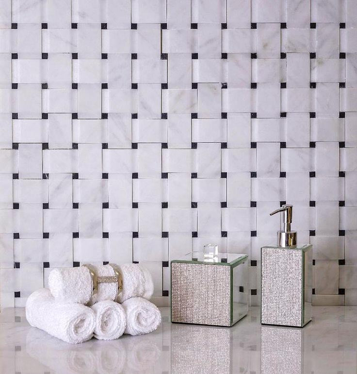 Elevate Traditional Home Design with a 3D Marble Basket Weave Tile