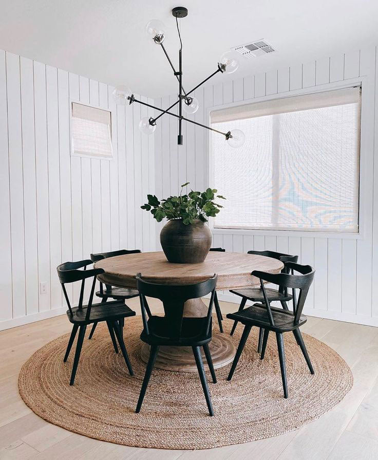Mid-Century Meets Rustic for Industrial Farmhouse Dining Room Style