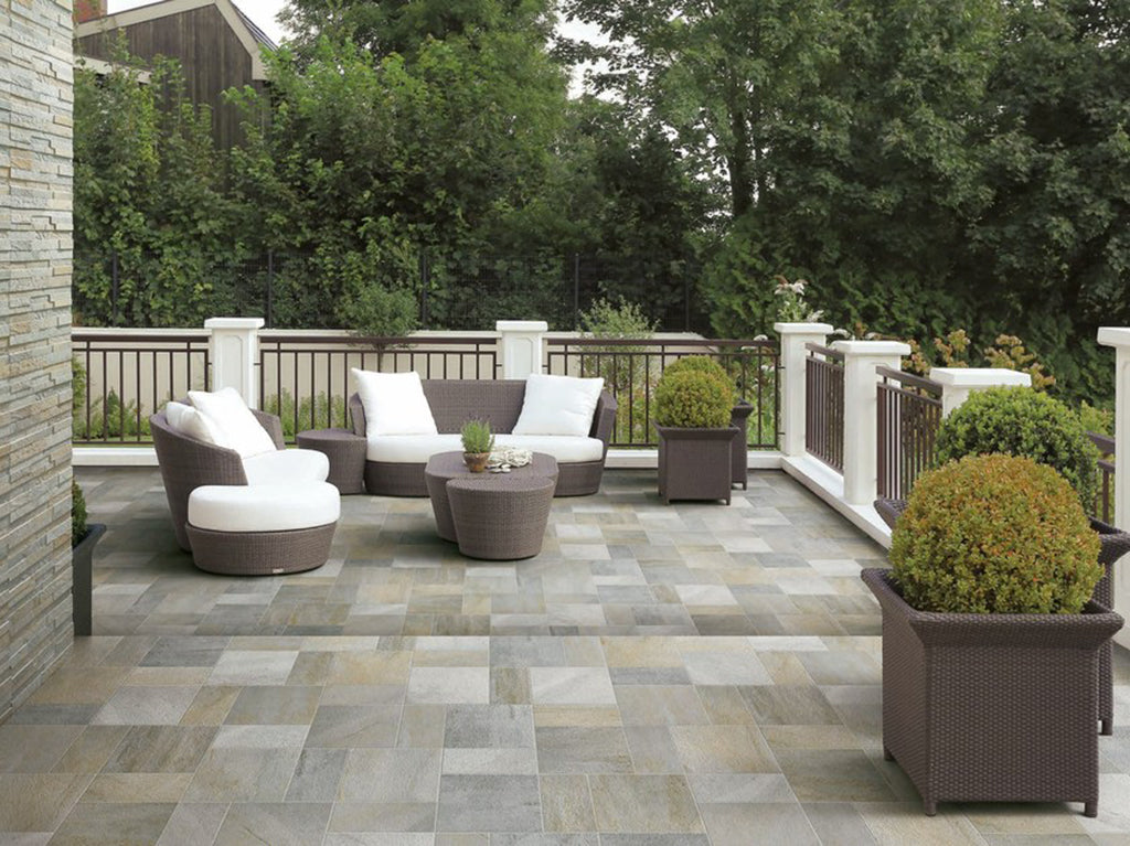 Refinish your patio in style and within budget with our selection of exterior floor tiles!