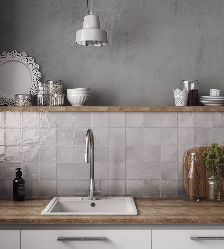 Add artisan style to your kitchen remodel with Zellige ceramic tiles