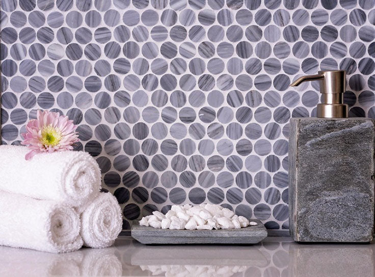 Designing with Marble Tile is Easy with Classic Penny Rounds