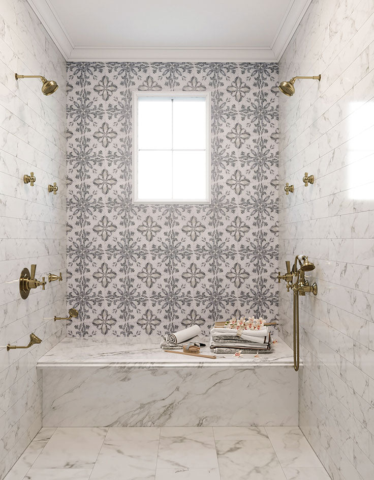 How to add patterned tiles  to your bathroom makeover