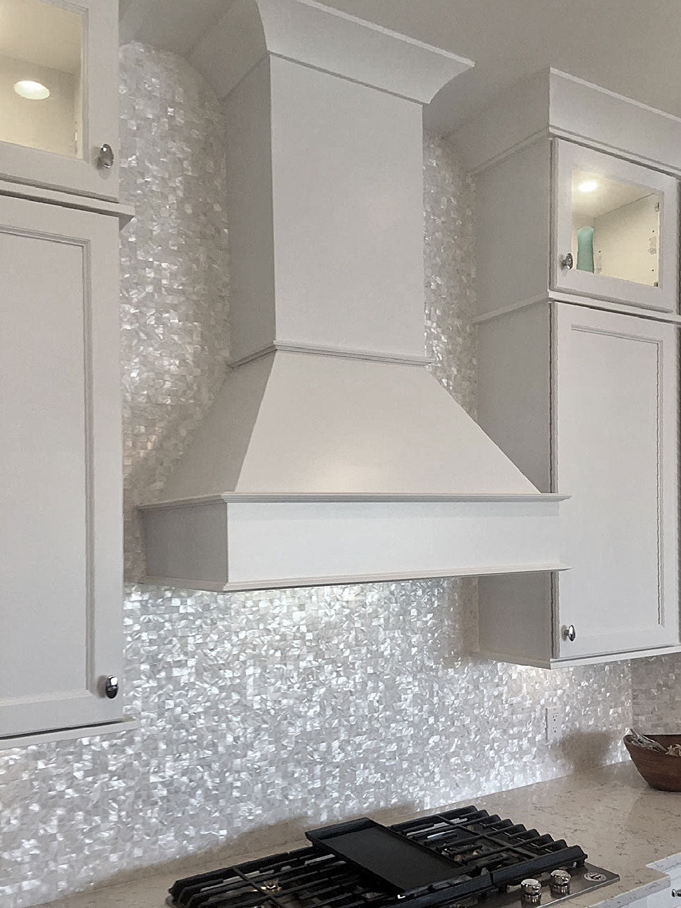 Mother of Pearl Tile Décor for Glam Style