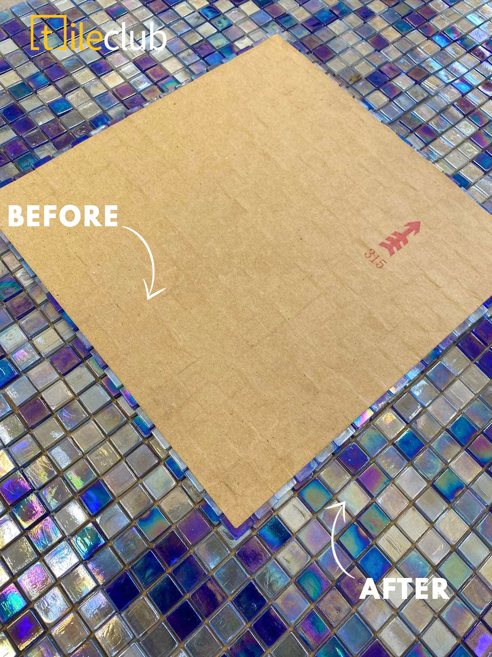 How to Install Mosaic Tiles with Paper Facing Instead of Mesh Backing