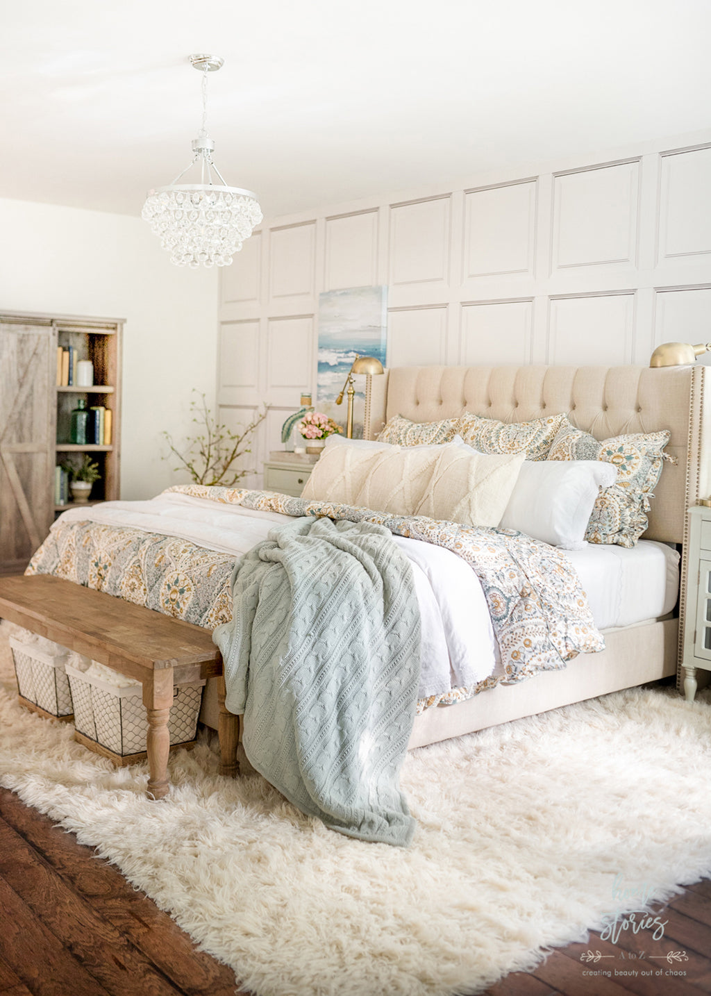 Cozy Coastal Farmhouse Bedroom Ideas from Home Stories A-Z