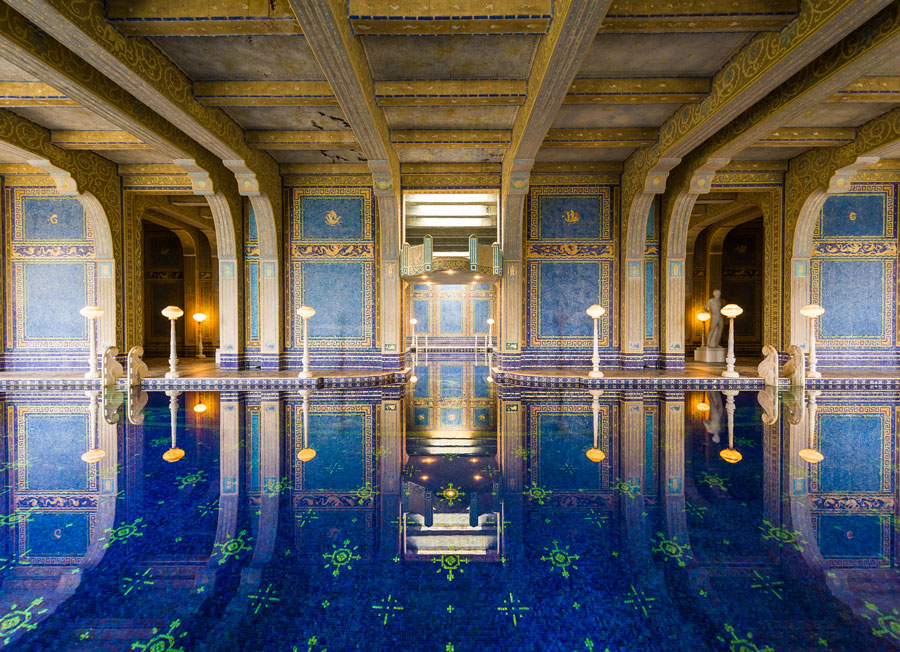The Hearst Castle Swimming Pool Features some of the most Beautiful Artisan Mosaics in the United States
