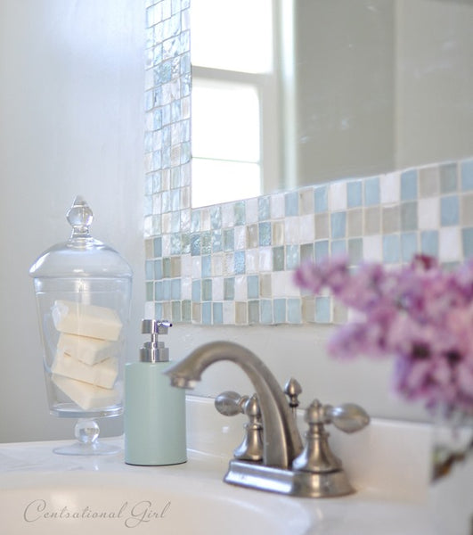 DIY Mosaic Mirror Frame with Eco-Friendly Leftover Tile