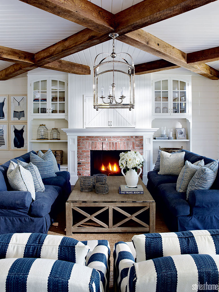 Modern Coastal Home Decor with a Classic Blue and White Nautical Palette