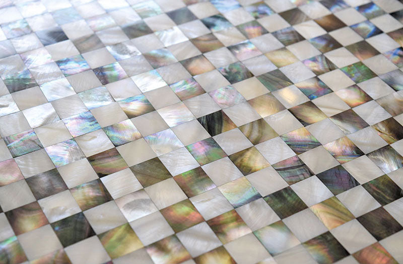 Checkerboard Tiles made of Mother of Pearl