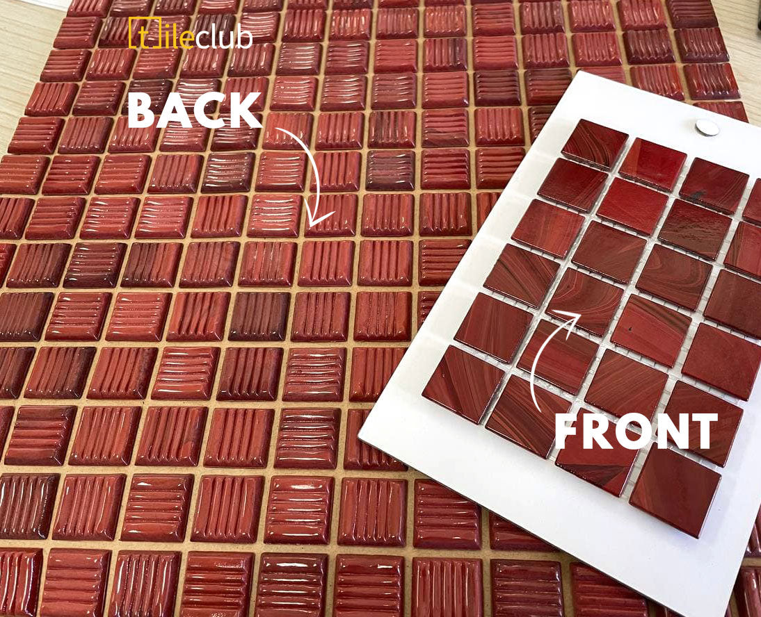 Paper Facing Tiles - How They Look Front and Back