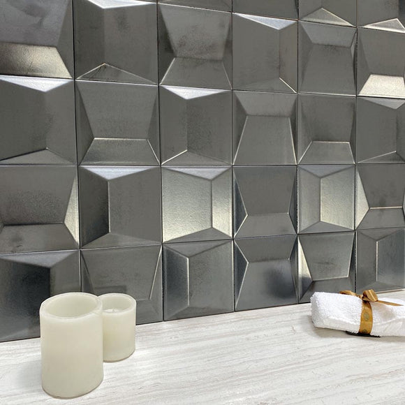 3D Porcelain Tile Backsplash