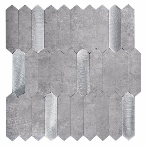 Silver Grey picket peel and stick tile
