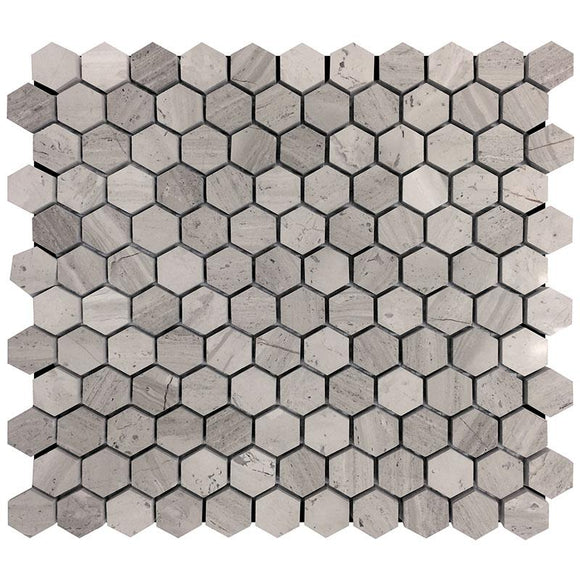 1 Inch Wooden Beige Hexagon Marble Mosaic Tile | Tile Club | Position1