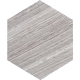 wood look hexagon tile