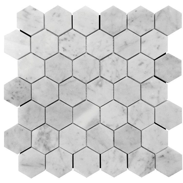 honed hexagon marble tile