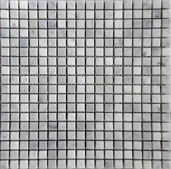5/8X5/8 White Carrara Tubled Square Marble Tile | Tile Club | Position1