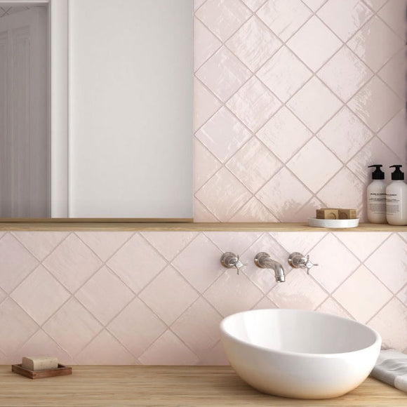 La Riviera Rose 5x5 Ceramic Tile