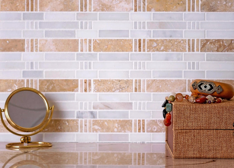 bamboo tiles backsplash