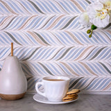 Chateau Blue Sprig Ceramic Mosaic Tile