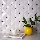 Chateau White Square Ceramic Mosaic Tile