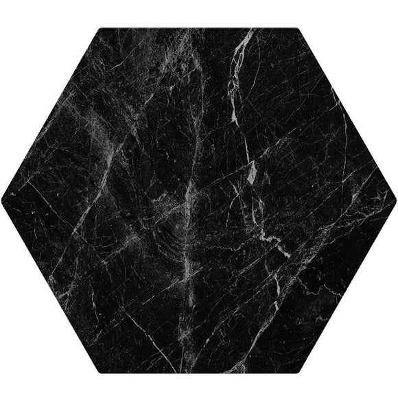 Cosmo Black Porcelain Hexagon Tile