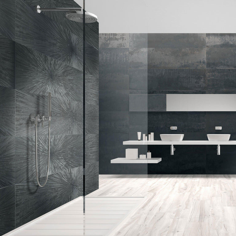Ionic Steel Decor Impact A Rectified Porcelain Tile
