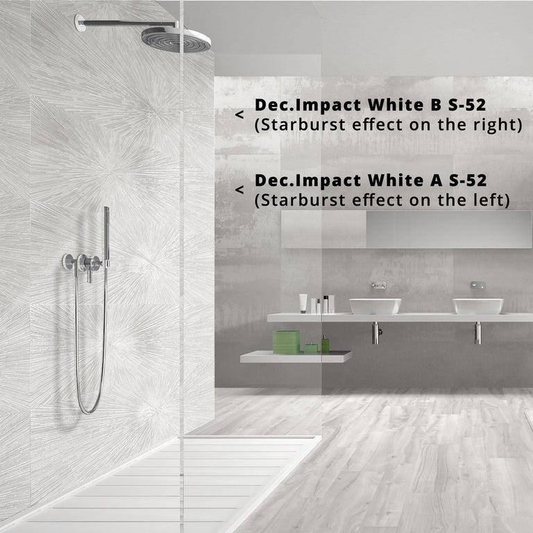 Ionic White Porcelain Tile for Shower and Bathroom