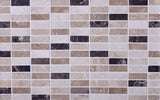 Elada Emperador Dark & Travertine Marble Mosaic Tile