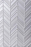White Chevron Mosaic Tile