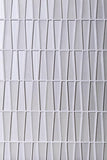 Fabrique White Triangle Glass Mosaic Tile