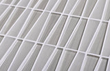 White triangle glass mosaic tile 4