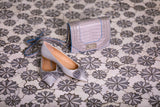 Floral Eternity White Carrara & Bardiglio Waterjet Mosaic Floor Tile