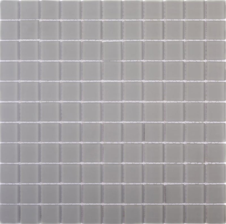 Glacier Aura Gray 1X1 Frosted Glass Tile