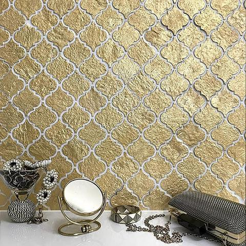 Gold Arabesque Mosaic Tile