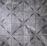 Grey Sparkle Waterjet Marble Mosaic Tile