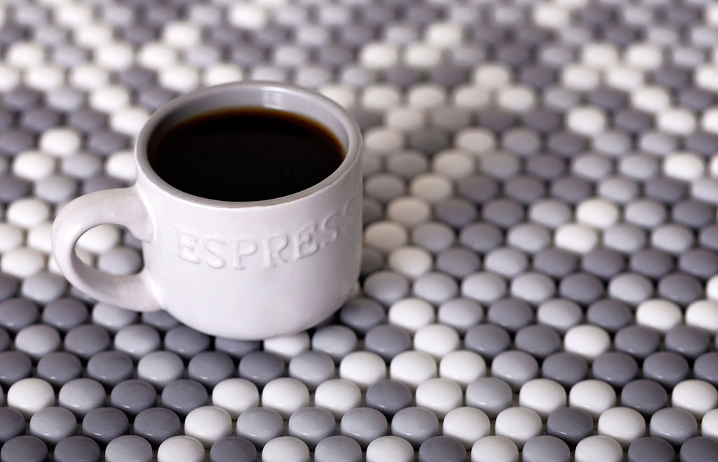 Grey Pearl Penny Recycled Glass Mosaic Tile