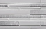 Ice White Linear Mosaic Tile for Wall|Tile Club