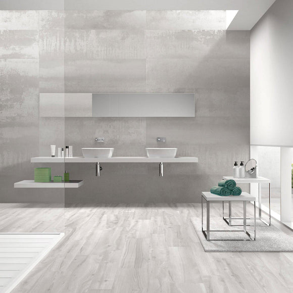white porcelain wall tile