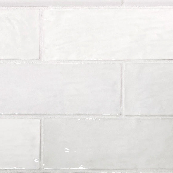La Riviera Blanc White Glazed Ceramic Subway Tiles