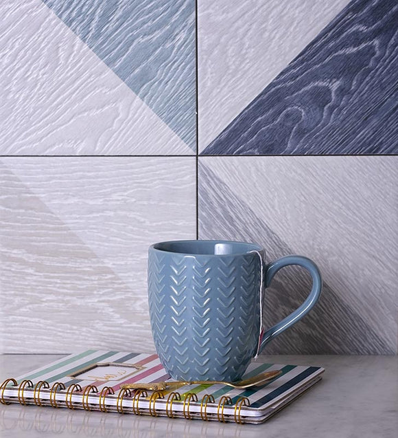 melange blue porcelain tiles