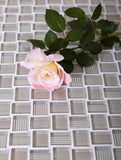 Mini Brick Beige Glass Mosaic Tiles
