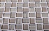 Mini Brick Beige Glass Mosaic Tile