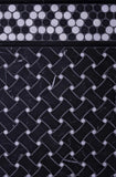 Nero Marquina Curved Basket Weave With White Dots Marble Mosaic Tile